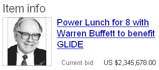 Power lunch warren buffett