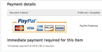 immediate payment